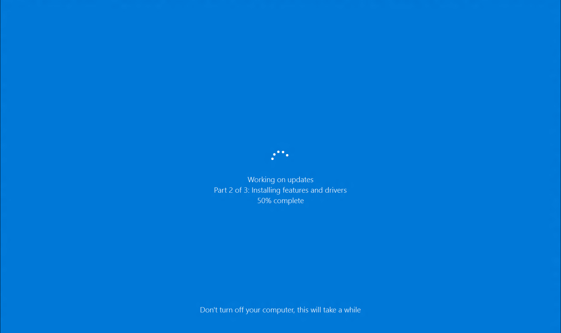 Turning off a computer while it is updating