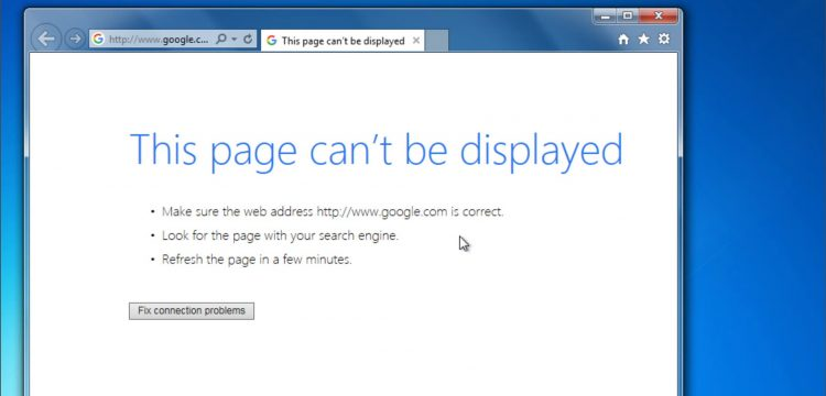 Internet Explorer/Chrome Page Cannot Be Displayed Error (FIXED)