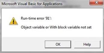 Runtime Error 91. Fix Runtime Error 91. Runtime 91 error. Windows runtime error 91. Fix Windows runtime error code 91