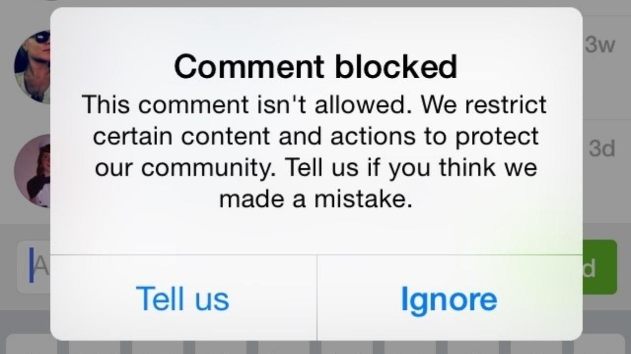 Instagram Comment Problem