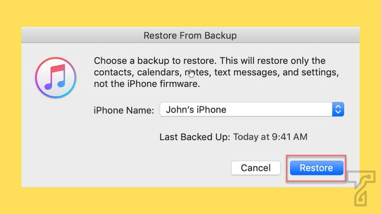 Restore via iTunes