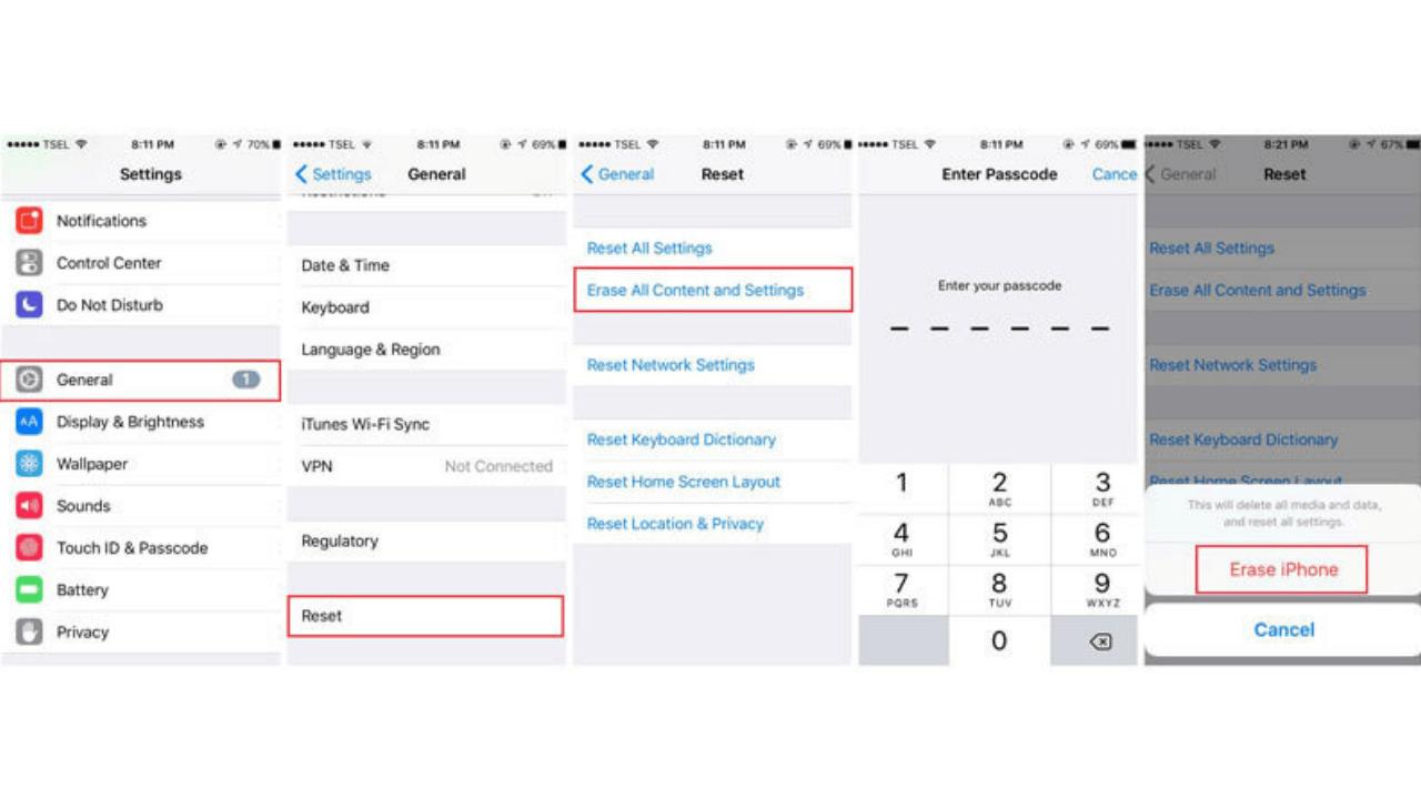 unlock icloud if the device is erased to unlock the icloud | Get iPhone Repair from Techyuga