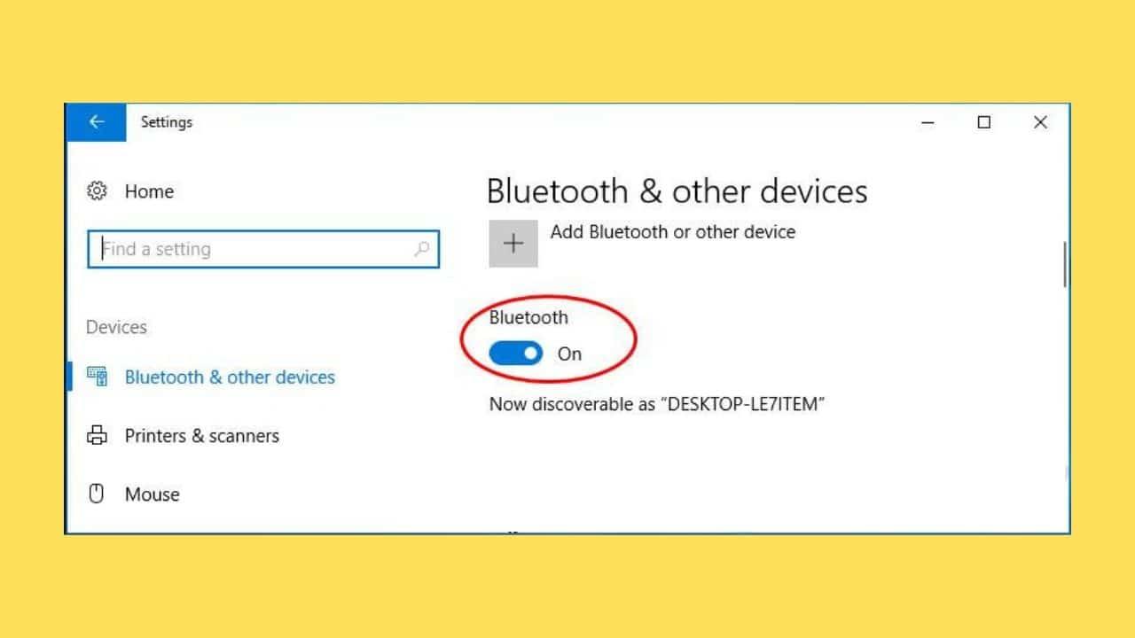 bluetooth option check
