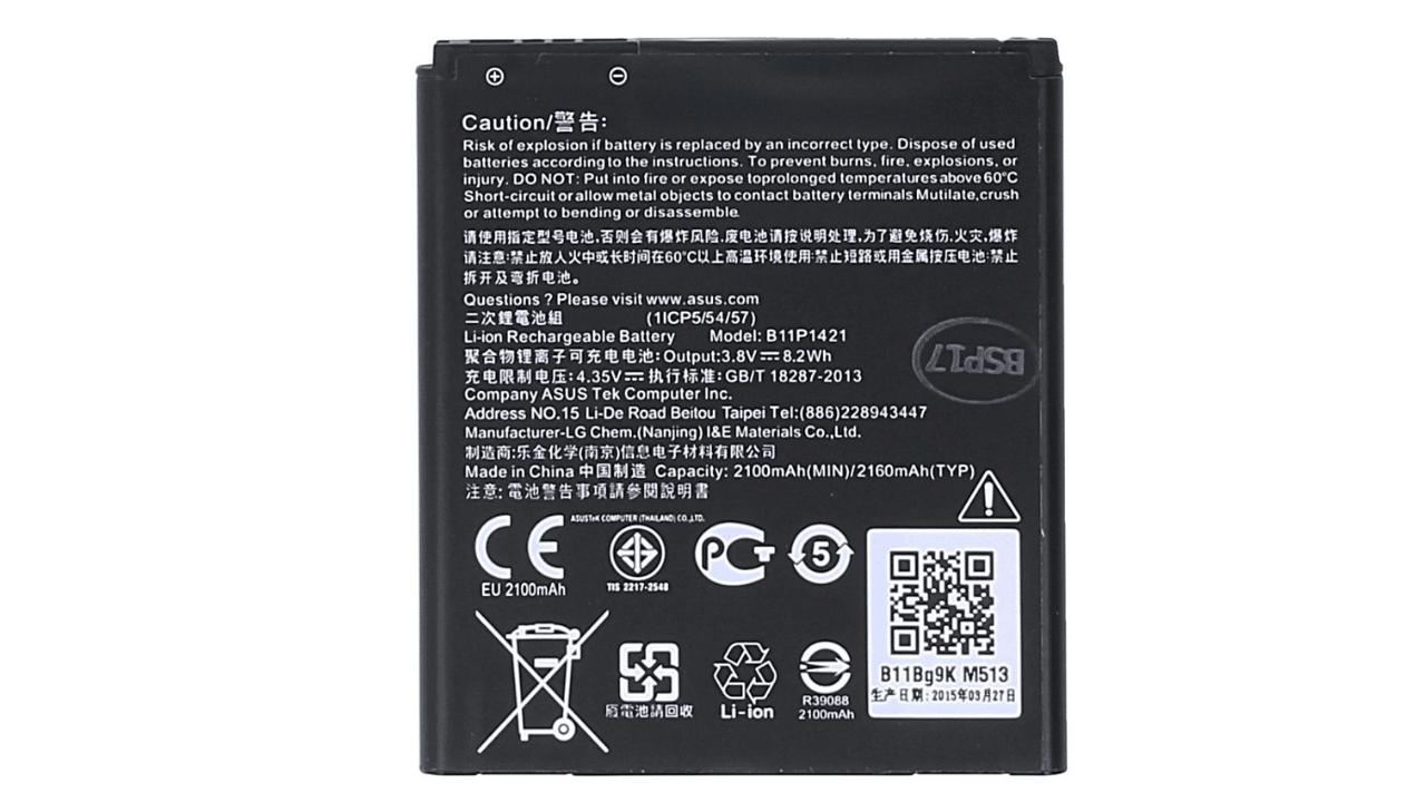 Asus Zenfone C (ZC451CG) battery replacement in India