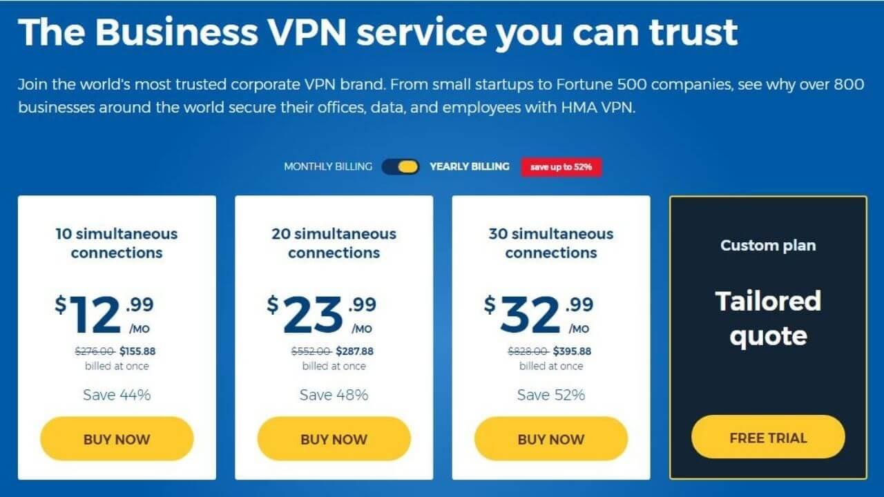 hidemyass vpn business plans