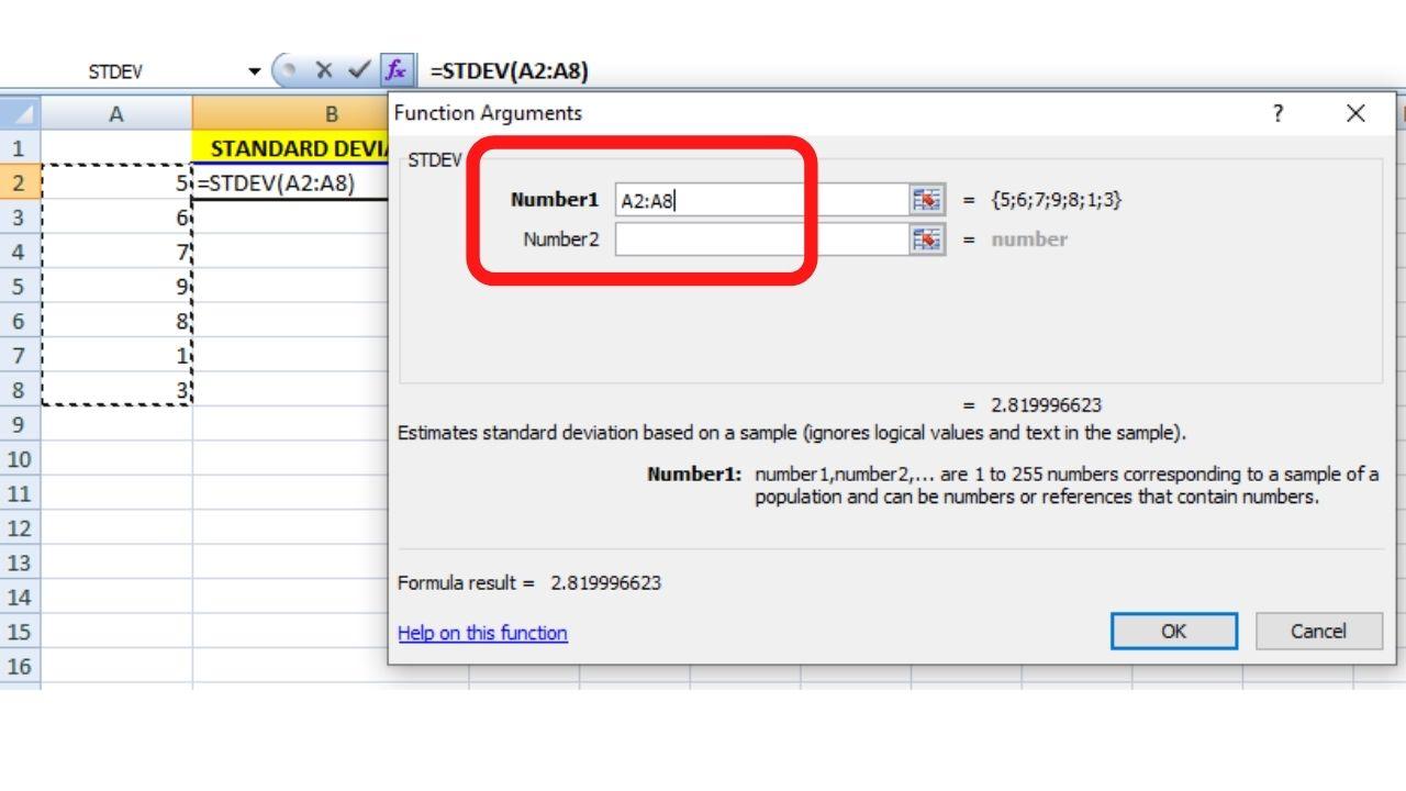 Standard Deviation Formula Excel